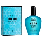 Eau de toilette fragrance coco. Fabriqué en France. 80% volume.